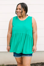 Load image into Gallery viewer, Basic Babydoll Tank In Kelly Green - Smith & Vena