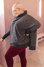 Load image into Gallery viewer, Brushed Melange Cowl Neck Sweater in Black - Smith & Vena Online Boutique