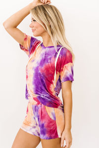 Cheer Me Up Tie Dye Hoodie In Orange - Smith & Vena Online Boutique