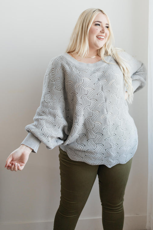 Designed For Details Top - Gray