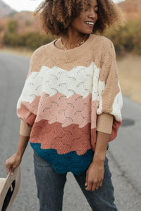 Designed For Details Sweater in Rust - Smith & Vena Online Boutique