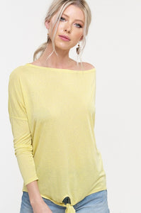 Desiree Dolman Top - Yellow - Smith & Vena Online Boutique