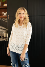 Load image into Gallery viewer, Eden Sheer Top in Ivory - Smith & Vena Online Boutique