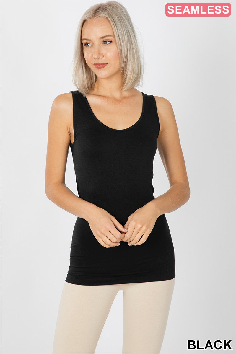 Everyday Basic Tank - Black - Smith & Vena Online Boutique