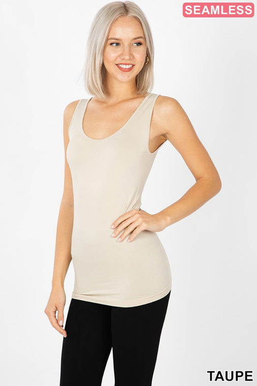 Everyday Basic Tank- Taupe - Smith & Vena Online Boutique