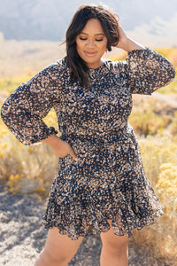 Fancy Me Floral Dress in Navy - Smith & Vena Online Boutique