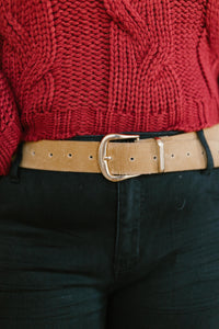 Fasten Your Belt in Camel - Smith & Vena Online Boutique