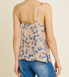 Floral Lace Cami -FINAL SALE