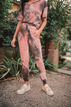 Load image into Gallery viewer, Forgotten Dreams Tie Dye Joggers In Mauve - Smith & Vena Online Boutique