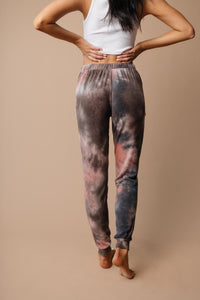 Forgotten Dreams Tie Dye Joggers In Mauve - Smith & Vena Online Boutique