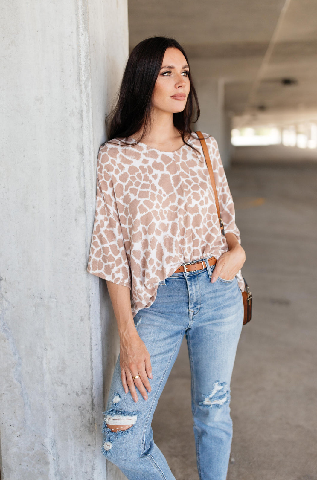Giraffe Print Bell Sleeve Top - Smith & Vena Online Boutique