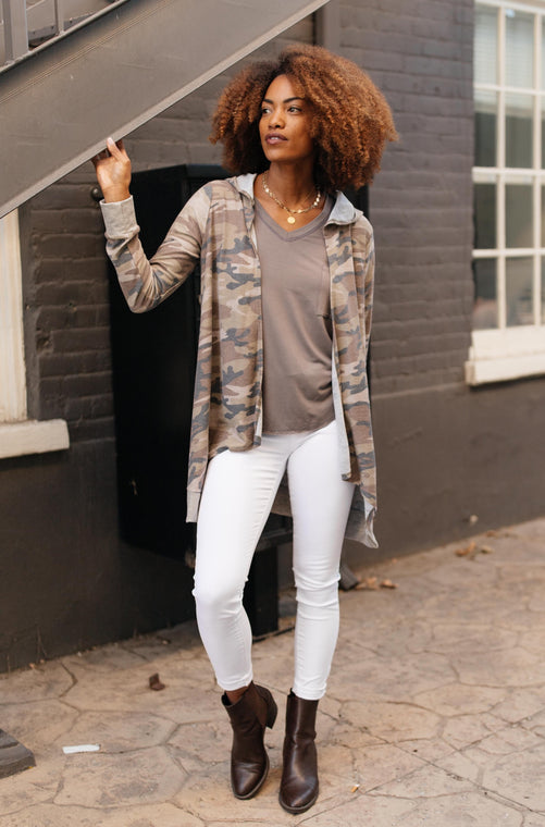Go Girl Camo Cardigan