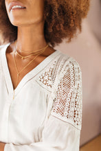 Load image into Gallery viewer, Gracie Lacey Shoulder Top In Ivory - Smith & Vena Online Boutique