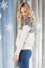 Load image into Gallery viewer, Half Camo Pullover in Oatmeal - Smith & Vena Online Boutique