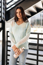 Load image into Gallery viewer, Heavenly Sweater In Pale Peach & Aqua - Smith & Vena Online Boutique