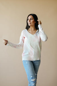 Heavenly Sweater In Pale Yellow & Pink - Smith & Vena Online Boutique