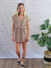 Load image into Gallery viewer, Sky Tie Front Romper - Multi FINAL SALE