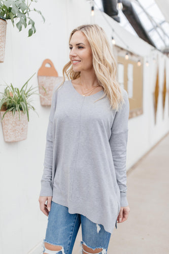 Tamera Sweater in Heather Gray - Smith & Vena