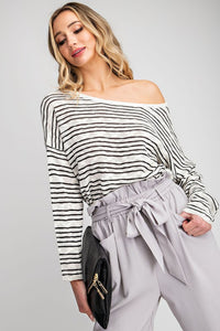 Jackie Stripe Sweater - Smith & Vena Online Boutique