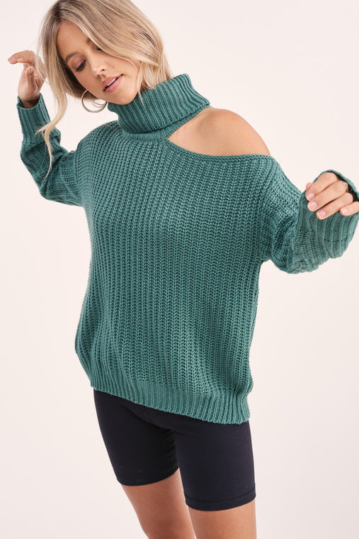 Jade Cold Shoulder Sweater