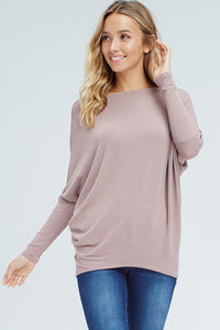 Joleen Dolman Top - Mauve - Smith & Vena Online Boutique