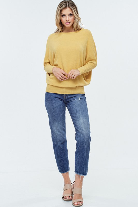 X Joleen Dolman Top - Yellow