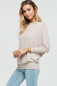 X Joleen Dolman Top - Taupe - Smith & Vena Online Boutique