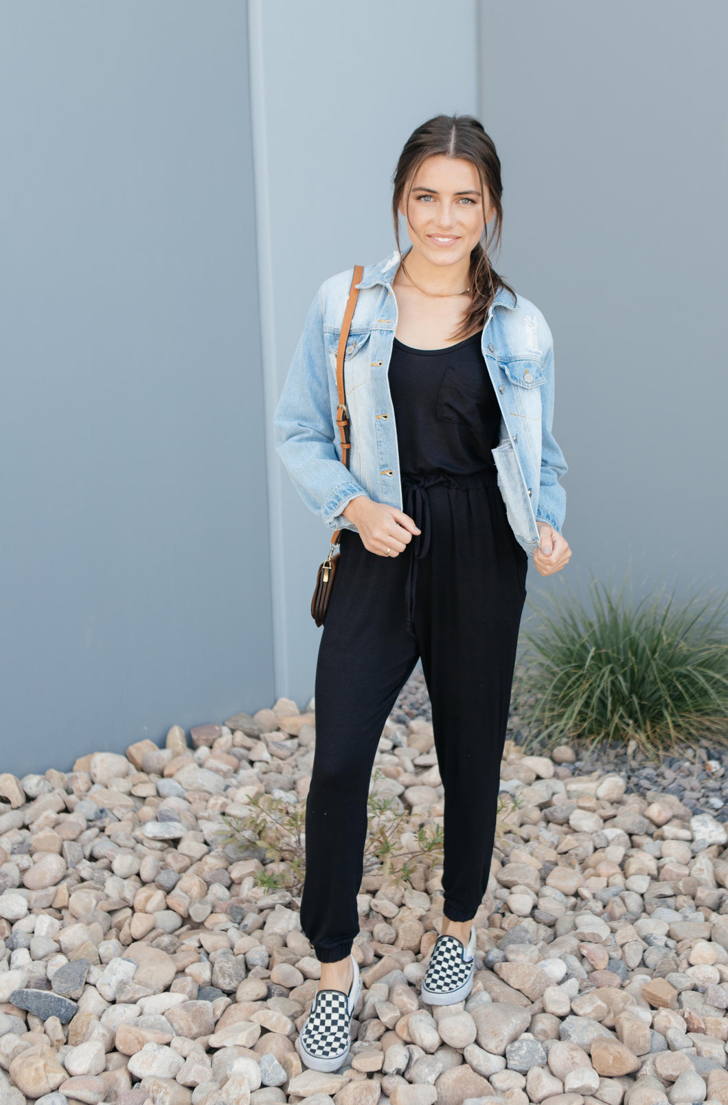 Jump In Jumpsuit In Black - Smith & Vena Online Boutique