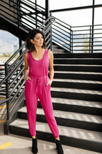 Load image into Gallery viewer, Jump In Jumpsuit In Hot Pink - Smith & Vena Online Boutique