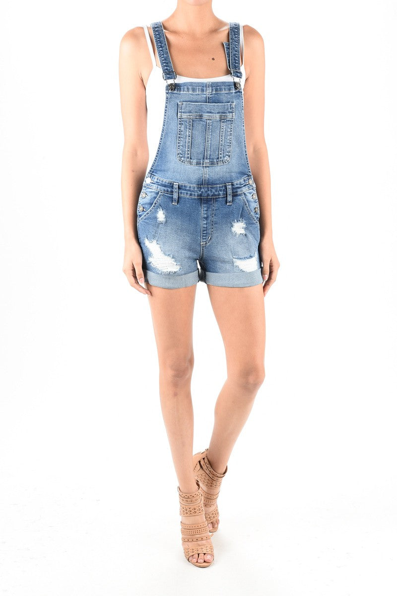 Kennedy Overall Shorts - FINAL SALE - Smith & Vena Online Boutique