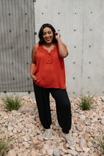 Load image into Gallery viewer, Lace Applique Camisole In Burnt Orange - Smith & Vena Online Boutique