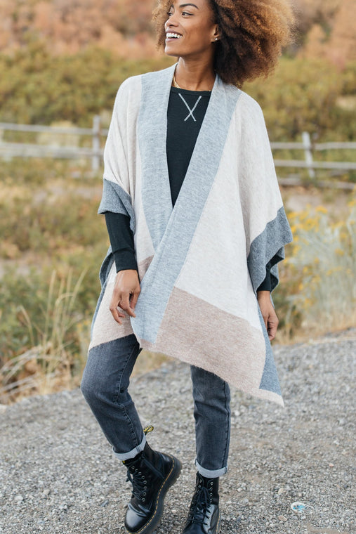 Lightly Layering Poncho Cardigan - Smith & Vena Online Boutique