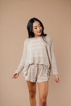 Load image into Gallery viewer, Willow Stripe Knit Pullover in Taupe - Smith & Vena Online Boutique