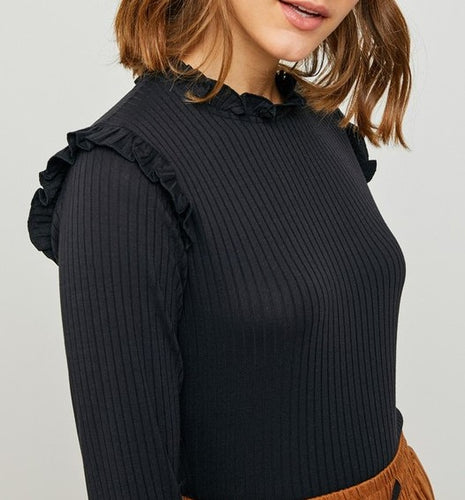 Lindsay Ribbed Top