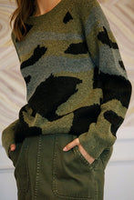 Load image into Gallery viewer, X Military Oversized Sweater - Smith & Vena Online Boutique