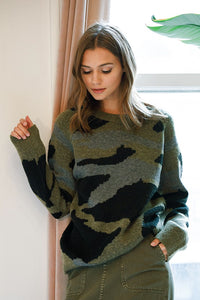X Military Oversized Sweater - Smith & Vena Online Boutique