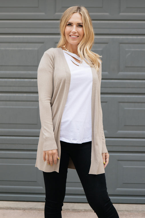 Bethany Cardigan in Oat - Smith & Vena Online Boutique