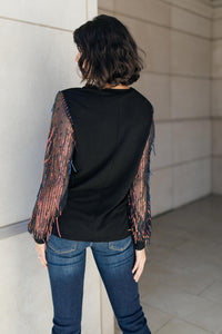 Harper Tinsel Top - Smith & Vena Online Boutique