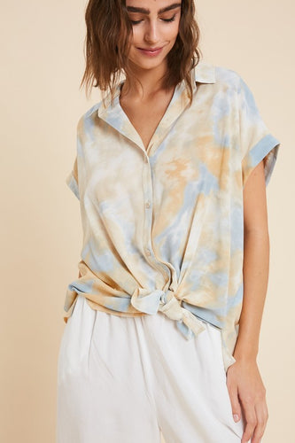 On Cloud 9 Button Top- FINAL SALE - Smith & Vena Online Boutique