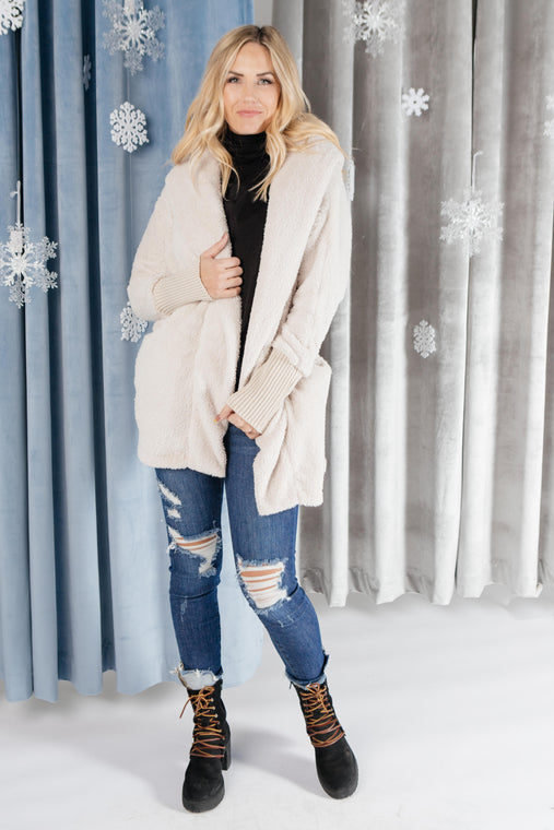 Overly Cozy Cardigan in Ivory