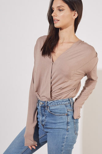 Riley Bodysuit -Taupe