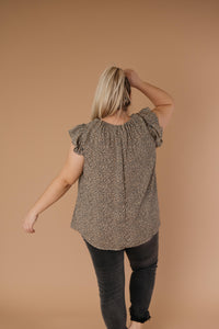 Ruffled Yoke Blouse - Smith & Vena Online Boutique