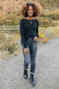 Sadie's Simple Sweater in Black - Smith & Vena Online Boutique