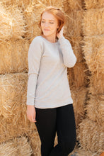 Load image into Gallery viewer, Sadie's Simple Sweater in Gray - Smith & Vena Online Boutique