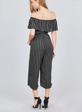 Load image into Gallery viewer, Gianna Stripe Romper - Black FINAL SALE