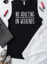 Load image into Gallery viewer, X No Adulting Tank - Black - Smith & Vena Online Boutique