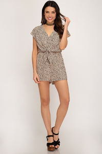 Sky Tie Front Romper - Multi FINAL SALE