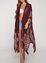 Load image into Gallery viewer, Jasmin Kimono- Merlot - Smith & Vena Online Boutique
