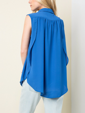 Load image into Gallery viewer, X Reign Sleeveless Blouse - Cobalt- FINAL SALE - Smith & Vena Online Boutique