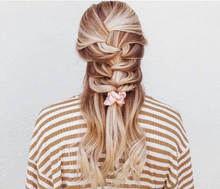 Load image into Gallery viewer, Metallic Scrunchies in Blush and Mauve